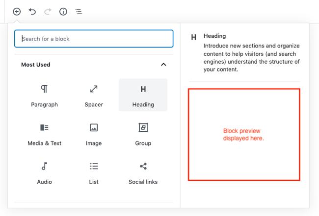 gutenberg block preview 5.3